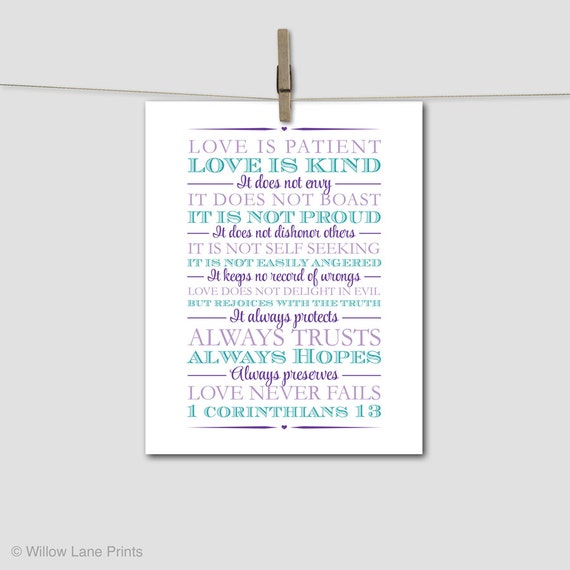 Creative Wedding Gifts For Parents : unique wedding gift for parents - 1st corinthians 13 - wedding gift ...