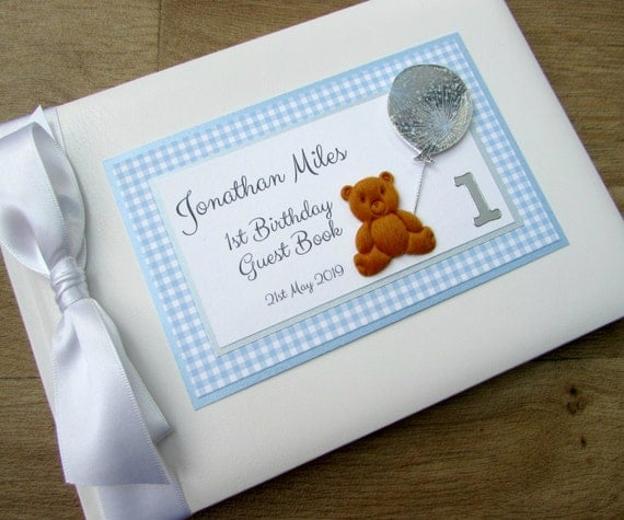 1st Birthday Guest Book Childrens Babies Personalised 2nd 3rd
