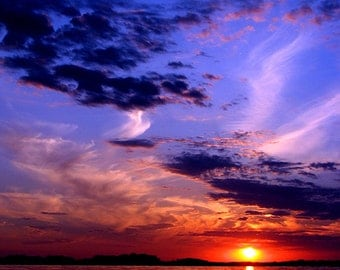 Colorful Sunset, Landscape Photography, Archival Giclee Print, Nature Photo - Multiple Sizes Available
