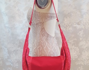 Hobo Bag - Red Hearts