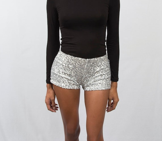 Ariana Sparkle Sequin Shorts / Sequin Shorts/ Stretch Sequin Shorts