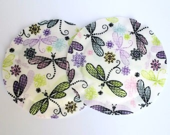 Nursing Pads, Breast Pads, Heavy Absorbency, No Show, Breastfeeding Gift, Reusable, Dragon Fly