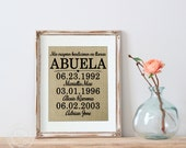 Spanish Mother's Day Gift   My greatest blessings in Spanish   Latino Mom   Mother of the Bride Gift   Spanish Gift for MOM   Abuela Gift