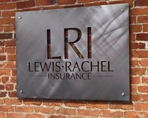 CUSTOM SIGNAGE - Your own business logo cut in steel
