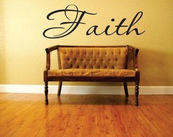 FAITH Vinyl Wall Decal - Prayer Room - Vinyl Wall Decal - Window Decals - Prayer Closet - Vinyl Wall Decals - Living Room - Den