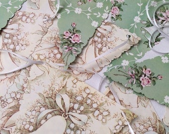 Vintage Wrapping Paper Bunting, Wedding, Bridal Shower