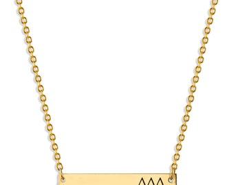 Delta Delta Delta Sorority Bar Necklace / Delta Necklace / Sorority Necklace / Sorority Gift / Big Little Gift / Sorority Jewelry