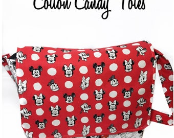 Mickey Mouse messenger bag, Mickey Diaper Bag Purse, Mickey Mouse Purse, Disney Diaper Bag