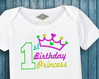 50% OFF 1st Birthday Princess | Machine Embroidery Applique Design 4 Sizes