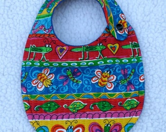 Adorable Bright Colorful BABY BIB - FREE Shipping