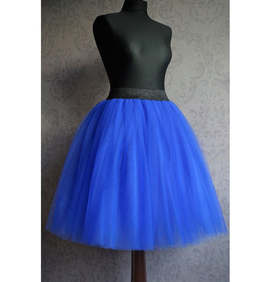 tulle skirt royal blue tulle skirt for by myjolodesign
