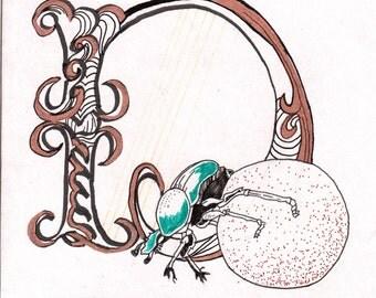 Medieval style Dung Beetle Illumination