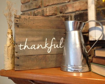 Thankful Pallet Sign