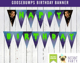 GOOSEBUMPS MOVIE Happy Birthday Banner - You Print Files