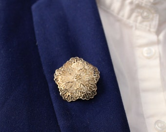 Silver Antique brooch/ flower brooch/Vintage Flower Brooch/Small Brooch/Flower Daisy Brooch/Silver Daisy Brooch/Gift For Her/Silver Daisy