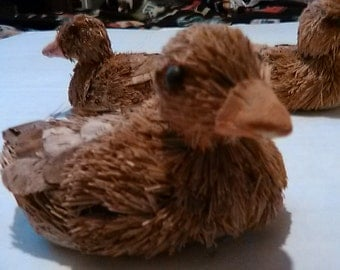Vintage Straw Ducks