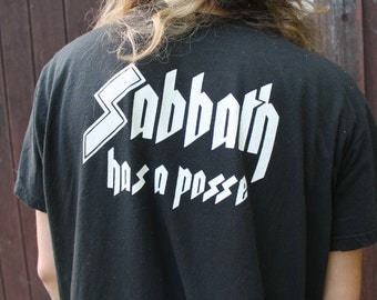 Vintage Black Sabbath Has A Posse T Shirt