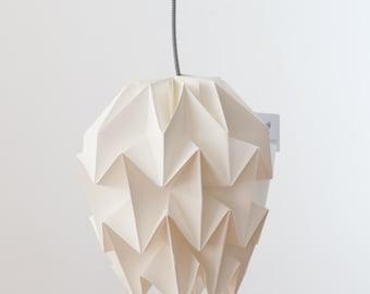 Origami lamp. Paper lamp. Nordic design lamp. Lamp of Scandinavian design. Model Amencer white