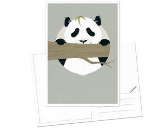 Postcard - Panda | children - nursery | A6 - 5.8 x 4.1 inches