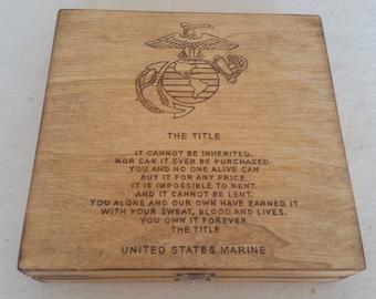 the title united states marine keepsake box