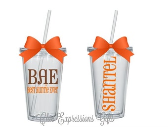 BAE - best auntie ever personalized tumbler