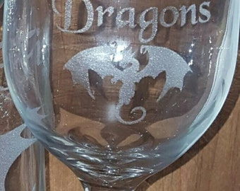 Laser Engraved Mother of Dragons Wine or Tea Glass ~ Dragon Lovers ~ Gifts for Her  ~ Gifts for Him