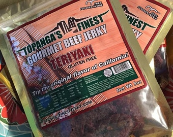 Homemade Teriyaki Beef Jerky, Gluten Free Beef Jerky,Premium Beef, Healthy, Savory and Sweet
