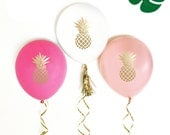 Pineapple Party Balloons Pineapple Balloons Pineapple Party Ideas Pineapple Decor Pineapple Theme Decorations (EB3110PN) - SET of 3 Balloons