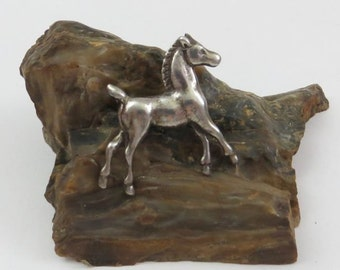 Vintage Sterling Silver Pony Colt Pin