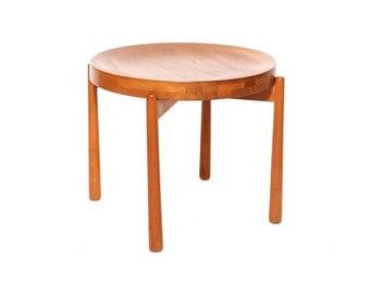 Rare Jens Quistgaard Teak Occasional Side Table for Kallemo of Sweden