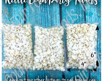 30 Kettle Corn Popcorn Party Favors - Birthday, Baby Shower, Class, Gender Reveal, Wedding, Event, School, Holiday, Circus, Carnival