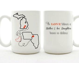 The Love Between A Mother & Daughter Mug