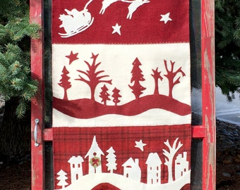 Primitive Folky Wool Christmas Quilt Pattern