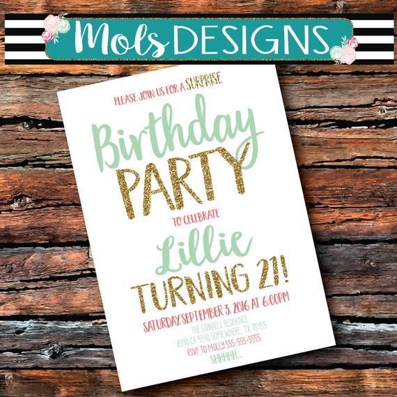 Any Color SURPRISE BIRTHDAY Party Bridal Wedding Baby Couples