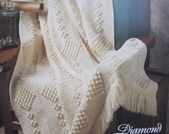 Crochet Pattern - Diamond Chains - Vintage 1994