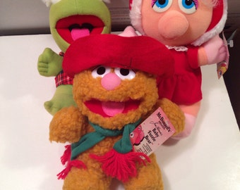 Muppet Christmas Plushes with tags