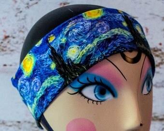 Van Gogh's Starry Night Flat Headband ***LAST ONE!!!***