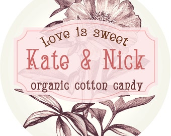 10 Vintage Party Favors - Organic Cotton Candy
