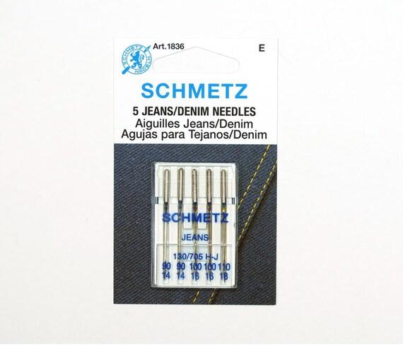 denim sewing machine needle size