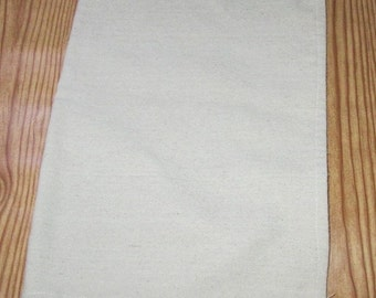Kitchen Dish Hand Towel Rustic Farmhouse Canvas Drop Cloth Plain