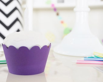 PURPLE Cupcake Wrappers - Set of 24