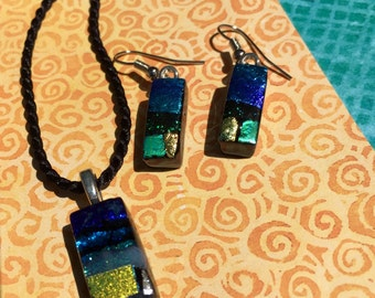 Fused Glass Jewelry Set