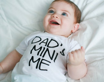 Father's Day Shirt or Bodysuit, Dad's Mini Me, Mini me shirt, Just like dad, father's day, daddy's boy, daddy's girl, first Fathers Day