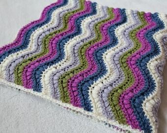 RIPPLE BLANKET PATTERN Crochet Ripple Blanket Crochet Pattern Ripple Baby Blanket Photo Prop Crochet Blanket Pattern Ripple Baby Crochet #10