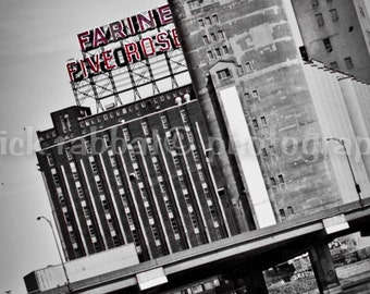 Montreal Photography Farine Five Roses Fine Art Photography Urban View Architecture Black and White Modern Minimalistic Montreal Landmark