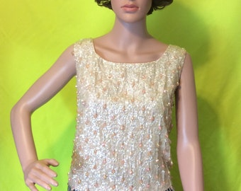 1950s/60s Beaded & Sequined Tank, XS