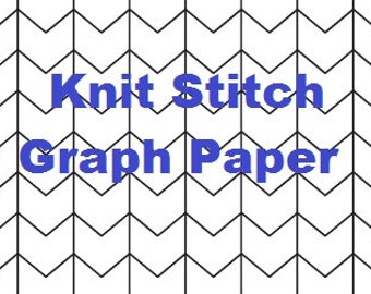 Knit Stitch Graph Paper - Colorwork Grids - Design Your Own Colorwork