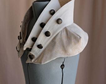 High Neck Collar Avant-Garde Steampunk Capelet xs, s, m, l, or xl