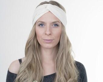 Lemon Jersey Turban, Yoga Headband, Workout Hairband, Boho Turban, Twisted Headband, Stretchy Headband, Hair Tie, Yoga Headband, Running