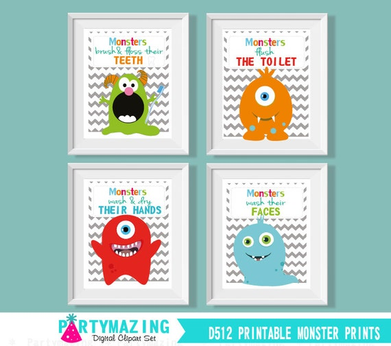Printable Kids Bathroom Rules Art